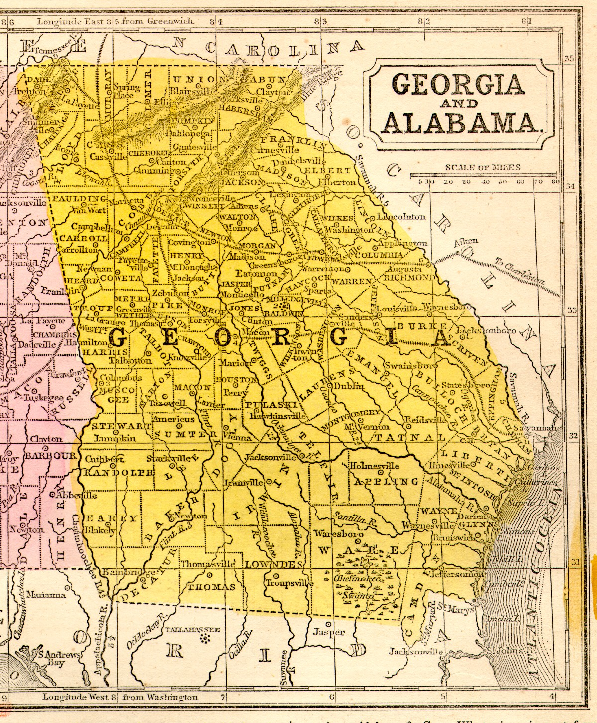Georgia State Map - Georgia state map by county