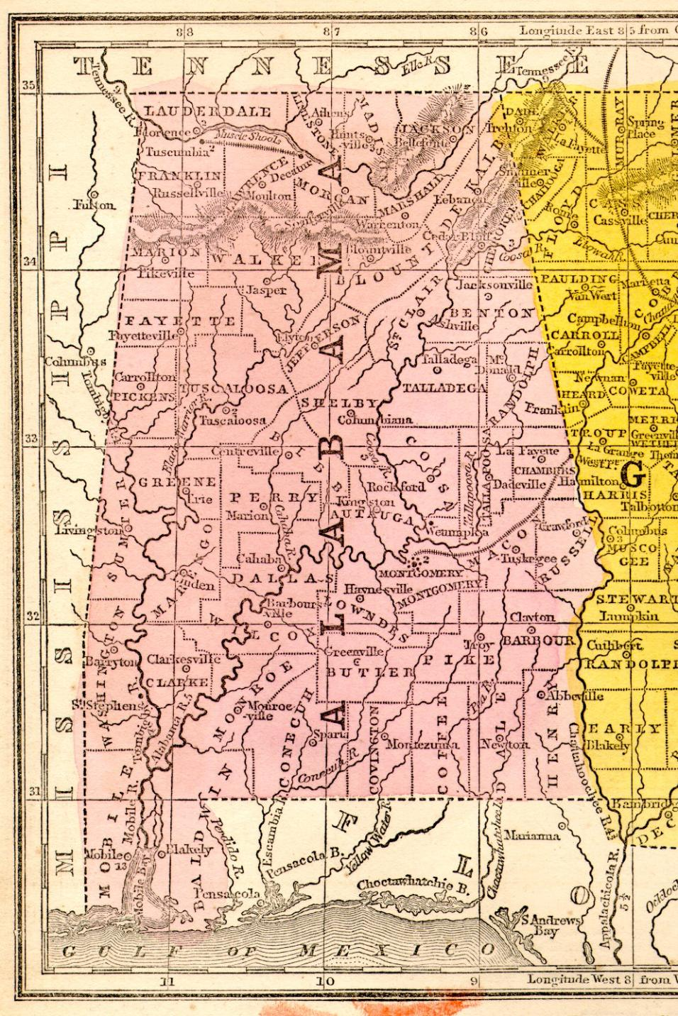 Alabama State Map - Alabama state map